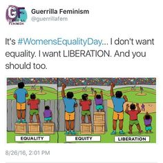 Maybe instead of demanding that Feminism be a thing you should think about the picture. The fence is there for a reason. So you don't get hit with balls flying at sometimes 100 mph. There's equality & then there's stupidity. Pro Choice, Patriarchy, Faith In Humanity, Social Issues, Worlds Of Fun, Social Justice, Human Rights, Equality, Real Life