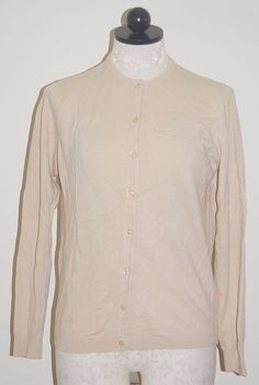 Autumn 100% Cashmere Black Leopard Collar Cardigan Sweater M ...