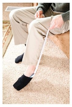 Handicap Sock Aid Device Long Distance Reach Foot Helper Disability Elderly #Carex