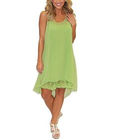 Urban Mangoz Lace Silk Dress Size M High Low Style Lime  #urbanmangoz #simisue #silkdresses #dress #dresses #summerdresses #lacedresses #urbanmango #casualdresses #urbanmangozdresses #bohemianclothing #bohodresses