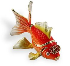Objet DArt Release #221 Shimmer The Gold Fish Handmade Jeweled Enameled Metal Trinket Box by Objet d Art, http://www.amazon.com/dp/B003WYXLRA/ref=cm_sw_r_pi_dp_fNqPrb1X6ESS5