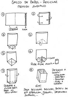 Criações Caseiras: Bucha-cartucha! ...Cartuchos de papel