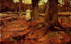 A Girl in White in the Woods, Vincent Van Gogh