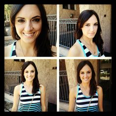 Makeover I did on the beautiful Megan for her headshots today. Super simple and pretty. Not over done. Love this look :)