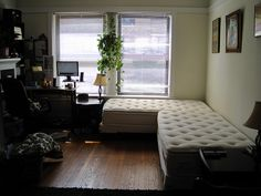 Sofa Sectional from two Twin Mattresses   YOU CAN BUY THEM CHEAP USED AD UPHOLSTER THE M W FABRIC