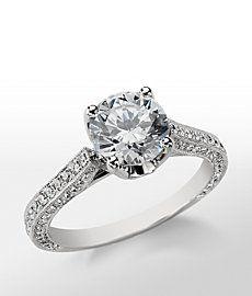 Monique Lhuillier Trio Cathedral Diamond Engagement Ring