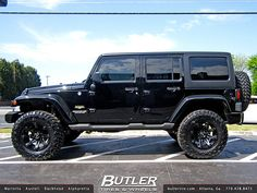 Jeep Wrangler with 18in Ballistic Jester Wheels   Flickr - Photo Sharing!