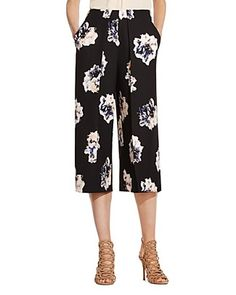 79529873b6ad VINCE CAMUTO Floral Print Culottes Women - Bloomingdale s