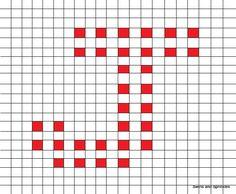 Swirls and Sprinkles: free crochet letter J block/square pattern