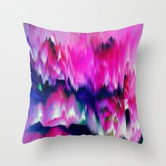 Blue Throws, Blue Throw Pillows, Couch Pillows, Down Pillows, Designer Throw Pillows, Glitch, Pillow Design, Pillow Inserts, Hand Sewing