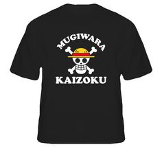 Mugiwara kaizoku strawhat pirates flag one piece T Shirt