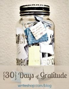 Give an empty jar for a person to write down the good things that happen in 2014. The goal would be to fill the jar with positive memories by the end of the year.
