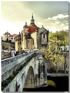 São Gonçalo Monastery and Bridge, Amarante Places Around The World, The Places Youll Go, Great Places, Places To See, Beautiful Places, Around The Worlds, Visit Portugal, Spain And Portugal, Portugal Travel