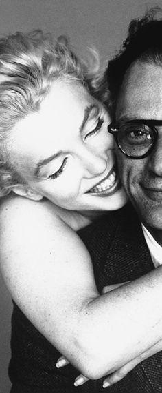 Marilyn Monroe and Arthur Miller, 1957. Photo by Richard Avedon.