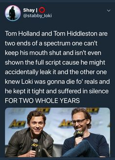 On a scale from Tom Holland to Tom Hiddleston how good are you at keeping secrets? Funny Marvel Memes, Marvel Jokes, Dc Memes, Avengers Memes, Marvel Avengers, Marvel Dc, Marvel Actors, Marvel Comics, Disney Marvel