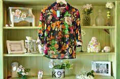 Camisa gasa floreada