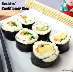 2. Sushi w Cauliflower Rice - by Low Carb Lovelies (1)