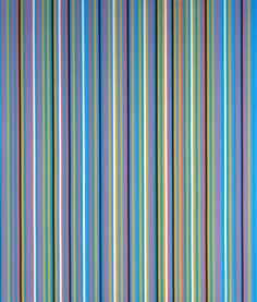 Edge of Dayby Bridget Riley, is a clean, fresh piece that reminds me of a waterfall. I love that her later works incorporate colour unlike her earlier monochromatic paintings.Edge of Day, Bridget Riley, 1981 Bridget Riley, Frank Stella, Ancient Egyptian Tombs, Tate Britain, Digital Museum, Art Uk, Geometric Art, Geometric Patterns, Female Art