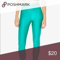Shiny nylon tricot leggings Shiny nylon tricot leggings in green from American Apparel. Cute for St Patrick's Day, Christmas, or just for working out & lounging! American Apparel Pants Leggings