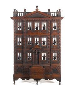 THE FORSTER BABY HOUSE  A rare George III Palladian carved mahogany dollhouse, lot no. 37, sale no. 16879 @ Bonhams- Fine English Furniture, Sculpture & Works of Art, Nov 18, 2009 (Sold for £43,200 inclusive of Buyer's Premium)