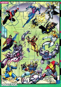 The Marvel Age of Comics, travisellisor: X-Men trading card art by Jim Lee. Marvel Comics, Hq Marvel, Arte Dc Comics, Marvel Heroes, Captain Marvel, Comic Book Characters, Comic Character, Comic Books Art, Jim Lee Art