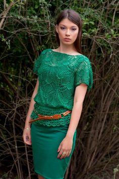 Silk Blouse and Dress by UkraineHandcraft for $289.00