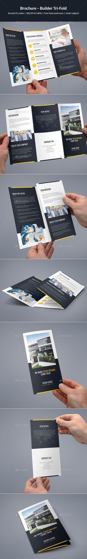 Brochure – Builder Tri-Fold - #Corporate #Brochures Download here: https://graphicriver.net/item/brochure-builder-trifold/20179861?ref=alena994