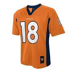 Peyton Manning Denver Broncos NFL Football Youth Size Jersey Team Colors Orange (Youth Extra Large (Size 18-20))