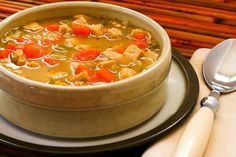 Turkey Barley Soup Recipe; this is a great use for leftover turkey, or make it with chicken if you don't have any turkey!  Use brown rice instead of barley for a gluten-free version. [from KalynsKitchen.com]