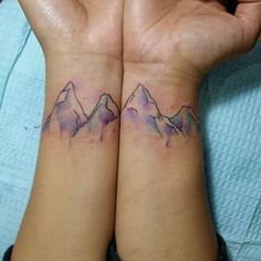watercolour mountain tattoo - Google Search