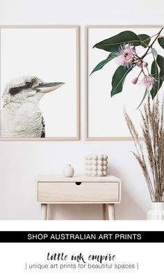 Shop Little Ink Empire's carefully curated collection of iconic Australian imagery highlighting our sun-kissed landscapes, and native flora and fauna. Living Room Art, Home And Living, Black And White Wall Art, Aesthetic Room Decor, Nursery Themes, Living Room Inspiration, Large Wall Art, Baby Decor, Aussies