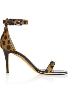 Givenchy Nadia sandals in leopard-print calf hair | NET-A-PORTER