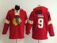 NHL Hoodies Jersey Chicago Blackhawks #9 hull red Jersey