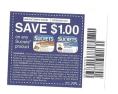 10 Coupons Save $1.00 on any ONE (1) Sucrets Product 05/31/2014