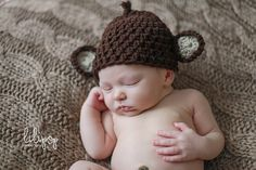 newborn hat crochet newborn hat boys hat by Bearycutecrochet, $10.00