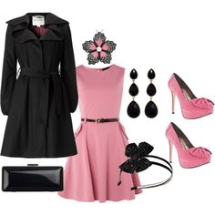 Pink and Black...love this coat.