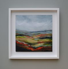 Acrylic on board in a white wood float frame. 400 x 400 mm (framed size 540 x 540 mm) SOLD Floating Frame, White Wood, Landscapes, Walking, Weather, Artist, Image, Painting, Home