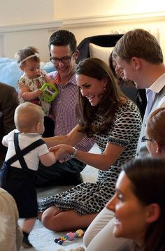 George on his legs. Very cute... but what I really want to know is where I can get Kate's dress