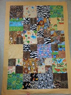 Child's charity quilt