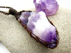 Raw crystal neckalce, Amethyst Necklace, Chevron Amethyst, February Birthstone, October gift guide, Amethyst crystal pendant, Relaxation,