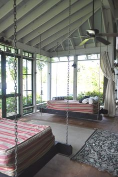 summerhouse porch/ hanging beds