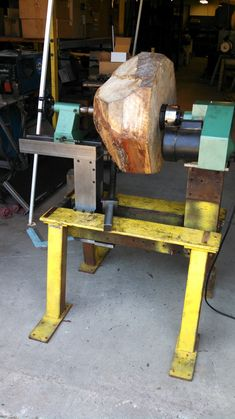 First attempt to turn wood on my new lathe. Wood Turning Lathe, Wood Turning Projects, Wood Projects, Diy Lathe, Wood Lathe, Woodworking Lathe, Woodworking Projects, Tiny House Wood Stove, Homemade Lathe
