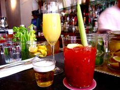 Prune Restaurant: Mimosa, Bloody Mary, and a shot of beer. Jacks Wife Freda, Brunch Nyc, I Want To Eat, Food Reviews, Bloody Mary, New York City, Menu, Dinner, New York