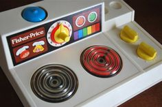 Fisher Price stove lol I remember feeling invincible because I couldn't burn myself on the red top. Jouets Fisher Price, Fisher Price Toys, Vintage Fisher Price, My Childhood Memories, Sweet Memories, Retro Toys, Vintage Toys, Nostalgia, Old School Toys