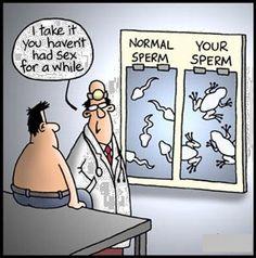 Phahahaha!!!  Tadpoles! #Semen.Analysis