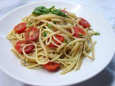 Knoblauchspaghetti mit frischen Tomaten 1