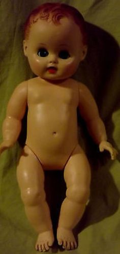 "Vintage Rubber Baby doll Sun Rubber Co. 12"" Sun Dee Baby Plastic Doll (02/04/2014)"