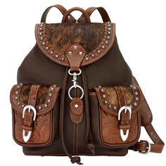 Check out American West Road Trip Large Drawstring Backpack - ShopYourWay Leather Backpack Purse, Backpack Bags, Drawstring Backpack, Leather Backpacks, Cowgirl Chic, Cowgirl Boots, Boot Jewelry, Cute Backpacks, Leather Bags Handmade