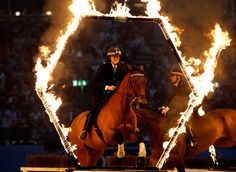 The Metropolitian Police Actviity Ride perform during day seven of the Olympia London International Horse Show at the Olympia Exhibition Centre Picture: PA