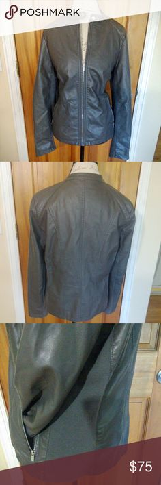 Faux Leather Moto Jacket DETAILS: Size L, But fits more like an XL  CONDITION: Like New  CONCERNS: None   ~ Feel free to make an offer!!! ~ a.n.a Jackets & Coats